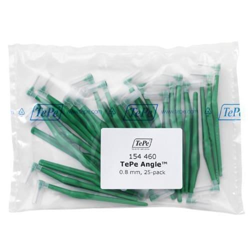 Tepe Interdental Angle Brush Green 0.8mm - Pack of 25